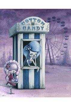 Cotton & Candy Art Print by Megan Majewski Art Sinistre, Pop Art, Art Mignon, Candy Art, Art Et Illustration, Book Illustrations, Creepy Art, Creepy Stuff, Scary