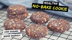 Mug Cake Healthy, Healthy Peanut Butter Cookies, Healthy Oatmeal Cookies, Chocolate Peanut Butter Cookies, Baked Oatmeal, Breakfast Bars, Breakfast Cookies, Breakfast Ideas, Fun Desserts