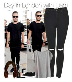 """Day in London with Liam"" by directioner-fashion-453 ❤ liked on Polyvore featuring Topshop, Retrò, Smashbox and rag & bone"