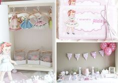 vintage paper doll party: love the doll-sized armoire with hooks and paper hangers + dresses