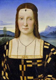 1503 Duchess Elisabetta Gonzaga of Urbino attr to Raphael Raffaello Sanzio da Urbino (1483–1520)