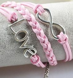 Pink Infinity Love Bracelet <3