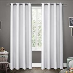 Exclusive Home Curtains Sateen Blackout Grommet-Top Single Curtain Panel - JCPenney Home Curtains, Kids Curtains, Room Darkening Curtains, Velvet Curtains, Grommet Curtains, Blackout Curtains, Window Curtains, Curtain Panels, Patterned Curtains