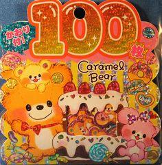 Kamio Japan Caramel Bear Sticker Sack | by Delfinodigrazia