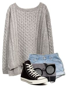 Sweater Weather by foreverfashionfever101 on Polyvore featuring polyvore, fashion, style, Converse, 7 Chi and Quay