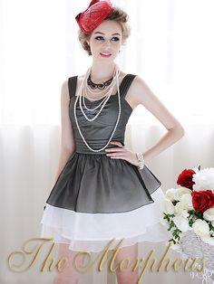 Morpheus Boutique  - Black White Gauze Pleated Layer Dress(http://www.morpheusboutique.com/products/black-white-gauze-pleated-layer-dress.html)