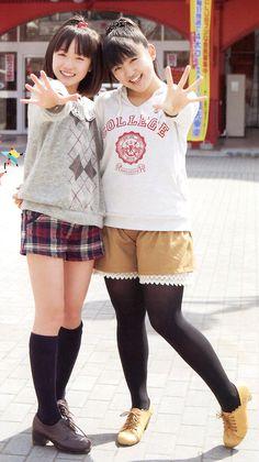 """Haruka Kudo & Kanon Suzuki. """"Oh my wish!"""" lead singers in training <3"""