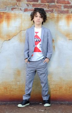 Casual in a Mod Suit in Mist (and tee) by Appaman - Spring '13