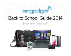 Engadget's Back to School 2014 sweepstakes: Enter to win one of 15 gadget-stuffed bags! by Sarah Silbert   @sarahsilbert   16 days ago