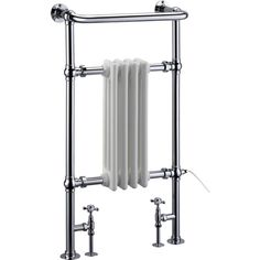 Browse the Burlington Full Bloomsbury Radiator/Fittings and Electric Heating Kit online and give your bathroom a gorgeous traditional feel. Traditional Towel Radiator, Traditional Radiators, Bathroom Radiators, Bathroom Faucets, Bathrooms, Bathroom Towels, Traditional Bathroom Accessories, Burlington Bathroom, Cast Iron Bath