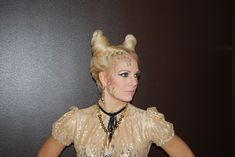 Halloween: Sexy devil hair style by janelistyle.com