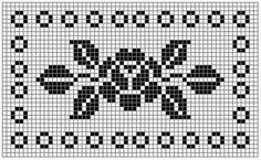 How to a Beautiful Rose Flower in Filet Crochet: Filet Crochet Rose Chart Cross Stitch Cards, Cross Stitch Rose, Cross Stitch Borders, Cross Stitch Flowers, Cross Stitch Designs, Cross Stitch Embroidery, Cross Stitch Patterns, Pony Bead Patterns, Crotchet Patterns
