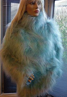 "Stunning Superfluffy 3 Strand ARCTIC BLUE Turtleneck Mohair Sweater 48"" | eBay Angora Sweater, Turtleneck, Arctic, Heavenly, Fur Coat, Cozy, Best Deals, Girls, Sweaters"