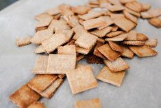 Homemade Wheat Thins Crackers
