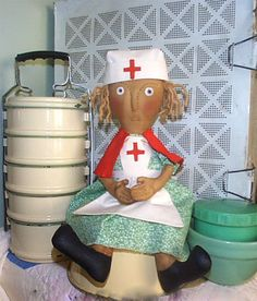 Primitive Doll Pattern E Pattern digital pdf Nurse by LillasFolly