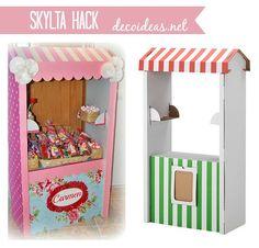 Tienda de cartón Ikea personalizada, #skylta #ikeahack
