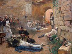 Napoleone rende visita all'amico, maresciallo Lannes mortalmente ferito