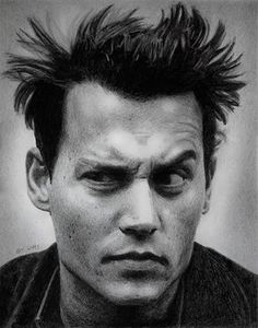 Pencil Portrait Mastery - Johnny Depp pencil portrait - Im sorry, he reminds me so much of the Tenth Doctor here. - Discover The Secrets Of Drawing Realistic Pencil Portraits Johnny Depp, Here's Johnny, Portrait Au Crayon, Pencil Portrait, Pencil Photo, Expressions Photography, Face Expressions, Celebrity Portraits, Black And White Portraits
