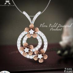 Glorify your moments just like flora field diamond pendant. #diamondpendant