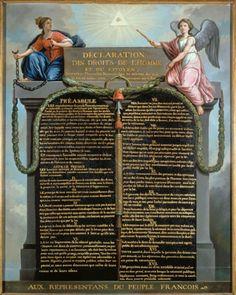 CYF119  - La déclaration  des droits de l'homme et du citoyen (Musée Carnavalet) (et de la citoyenne?)