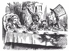Alice in Wonderland by Lewis Carroll. This picture is John Tennels' illustration for the first edition of Alice in Wonderland in 1865.