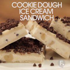 Cookies Dough Ice Cream Sandwich