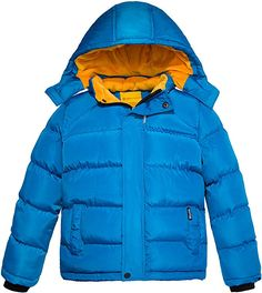 Shop for Boy's Padded Winter Coat Thicken Warm Jacket with Detachable Hood - Blue - at best price, a large range of designer Boys' Down Jackets & Coats discount sale. Winter Quilts, Deep Winter, Cartoon Kids, Big Boys, Winter Coat, Mantel, Kids Outfits, Windbreaker, Warm
