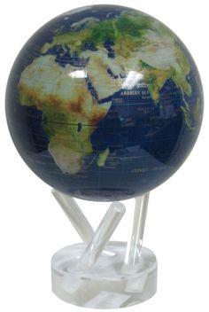 Solar Powered Earth Spinning Desk Globe $154.99 http://cubedecorzone.com/
