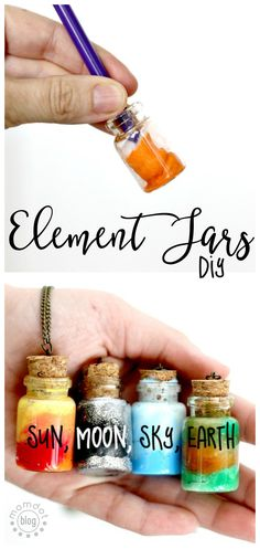 Create an Element Jar Necklace Element Jars: Create Sun Moon Earth and Sky in these fun DIY Element Jar Necklaces Tutorial picture instructions Nebula Jar The post Create an Element Jar Necklace appeared first on Summer Diy. Cute Crafts, Easy Crafts, Diy And Crafts, Crafts For Kids, Kids Diy, Diy Crafts For Your Room, Decor Crafts, Easy Diy Room Decor, Fun Crafts To Do