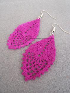 crochet earrings pattern drop earrings romantic wedding