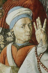 Benozzo Gozzoli, Procession of the Old King (west wall), 1459-60, fresco, Chapel, Palazzo Medici-Riccardi, Florence, with this second self-portrait.