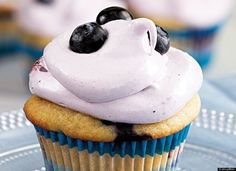 Blueberry Recipes - Blueberry Cupcakes
