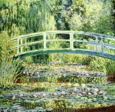 Bridge on the waterlily pond-Claude Monet