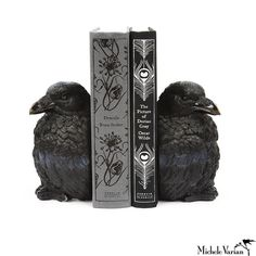 Raven Bookends... love! This website has so many things I would like to have in…                                                                                                                                                                                 More
