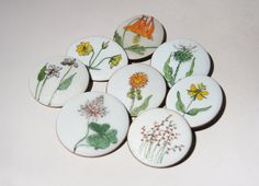 De Passille Sylvestre flower brooches