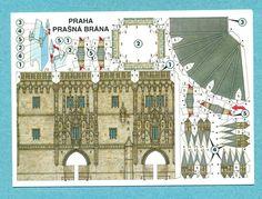 OZ Postcard, Praha Prasna Brana, Cut out card