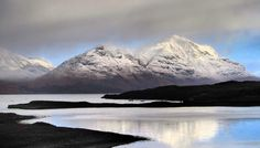 Snow on the Wester Ross Hills at Loch Torridon