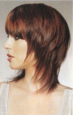 Image Detail for - Cute Shoulder Length Wispy Shag Haircut