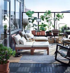 Nouveautés catalogue Ikea 2016 : un salon en plein air pour se détendre à la belle étoile