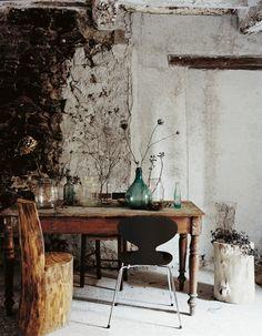 Wabi Sabi Home Decoration Ideas You'll Inspired Wabi Sabi, Log Chairs, Ant Chair, Tree Chair, Desk Chair, Sweet Home, Turbulence Deco, Interior Decorating, Interior Design