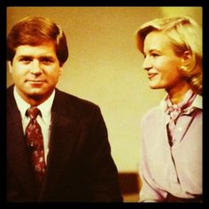 Hello, 80s! Check out our Dan Lewis with Diane Sawyer!