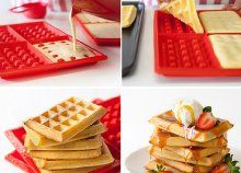 What if we told you that making waffles at home is super simple. Walk this way, friend, and find out how the Lekue Waffle Maker works. How To Make Waffles, Making Waffles, Kitchen Tops, Gadgets And Gizmos, Kitchen Gadgets, Baking Recipes, Super Easy, Nom Nom, Bakery