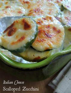 Italian Cheese Scalloped Zucchini