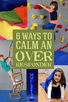 6 ways to calm an over responder--great ideas that everyone can use to help kids with sensory needs or autism