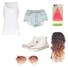 """""""Untitled #72"""" by purplepizza on Polyvore featuring American Vintage, Converse and Casetify"""