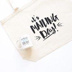 Mailing day totes are back in stock!   #etsy #etsyshop #etsyseller #handmade #totes #totebag #mailingday #happymail #maker #makerlife #bosslady #likeaboss #makersgonnamake #happywednesday by smallglow