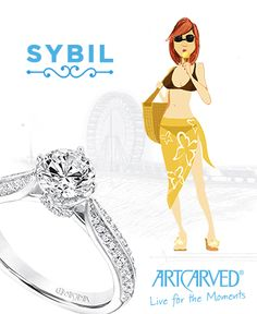 Sybil has a true passion for her profession, making love connections. She finds it incredibly rewarding, but like every job matchmaking can be exhausting, so Sybil's making time for Sybil with a long weekend at the beach. Today's all about indulgence, and what's more relaxing and enjoyable than ice cream on the boardwalk? #sybil #artcarvedbridal