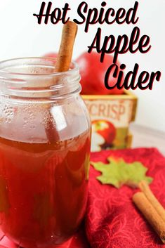 Hot Spiced Apple Cider Best Grill Recipes, Best Apple Recipes, Pumpkin Recipes, Great Recipes, Favorite Recipes, Thanksgiving Recipes, Fall Recipes, Drink Recipes, Cocktail Recipes
