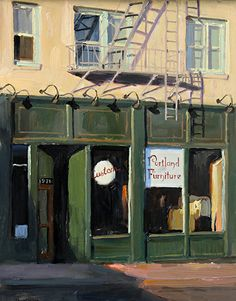 Store Front by Eric Bowman Oil ~ 14 x 11