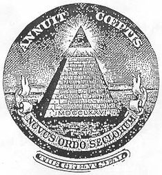 The Pyramid represents the past. Note that the capstone of this pyramid is not in place, thus denoting an unfinished situation. This unfinished situation was planned to remain in effect until the Old World Order was destroyed and replaced with The New World Order. http://www.cuttingedge.org/pages/seminar2/SEAL1.htm